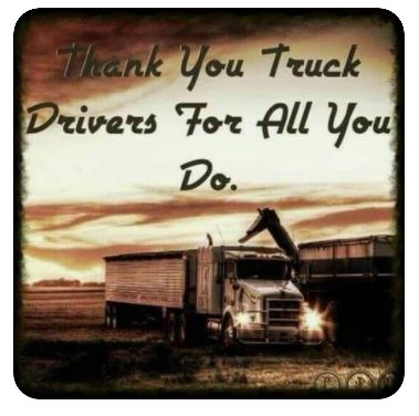 Thank You to our Hauliers and those who work within the Transport Sector!